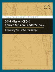 2016 Mission Survey