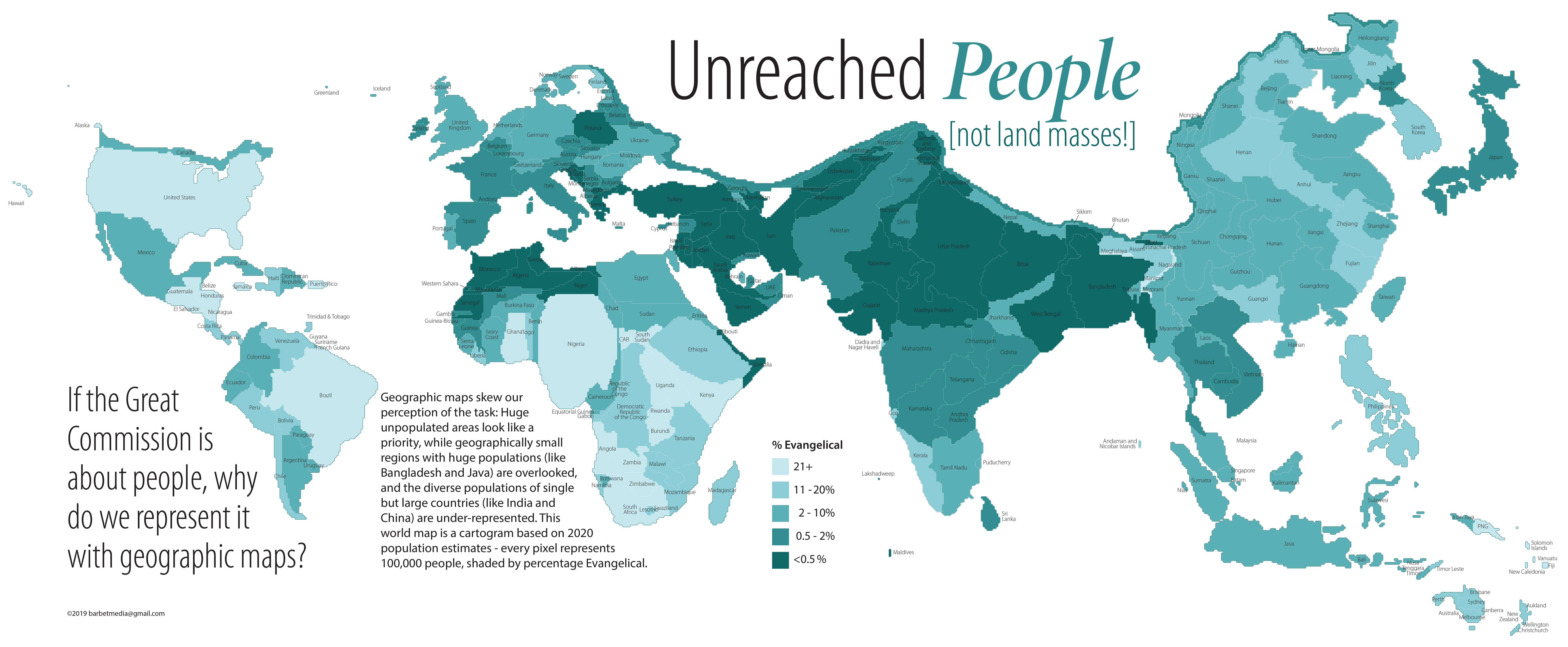 Unreached People (not land masses!)