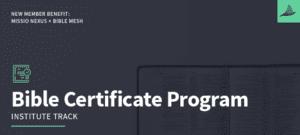 New Member Benefit: Missio Nexus Bible Certificate Program