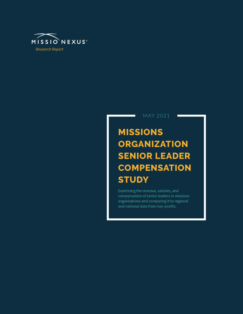 2021 Missions Organization Senior Leader Compensation Study - Research Report - Purchase